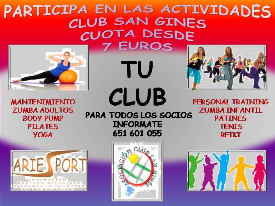 ACTIVIDADES CLUB SAN GINES