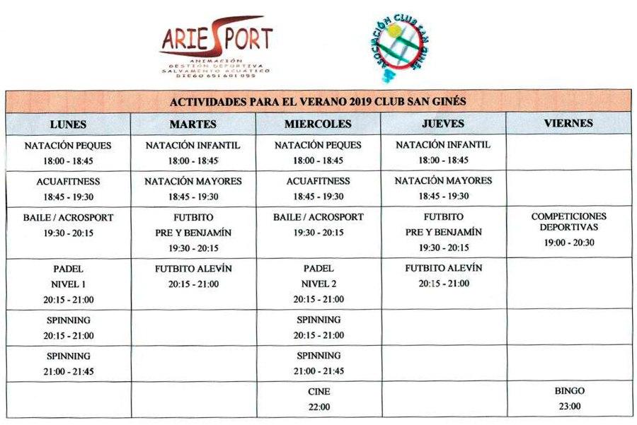 Actividades-Fin-de-Semana-2019-Verano-Club-San-Gines